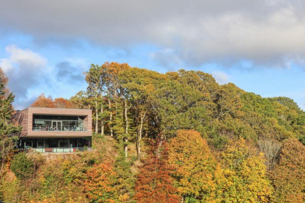 Pitlochry-Dam-Visitors-Centre-Scotland trees