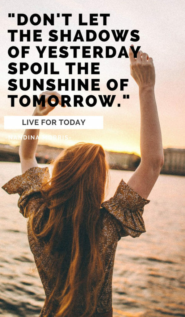 Don't let the shadows of yesterday spoil the sunshine of tomorrow. Sunshine quotes, quotes about sunshine, positive quotes, inspirational quotes, motivational quotes, sunny, beach, wellness, self help, calm, happy, smile, Instagram captions.