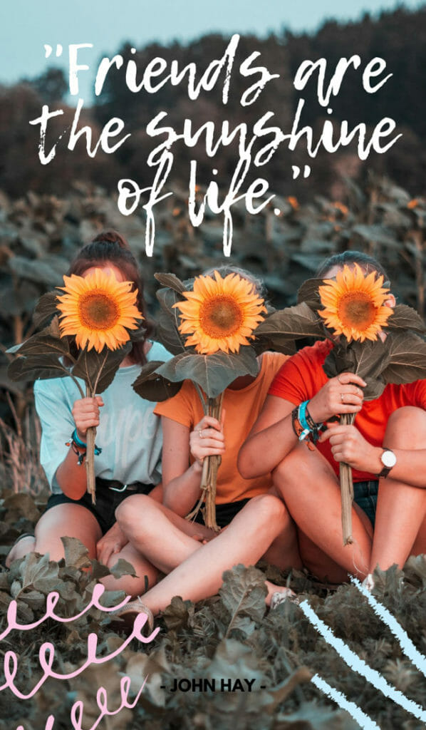 Friends are the sunshine of life.Sunshine quotes, quotes about sunshine, positive quotes, inspirational quotes, motivational quotes, sunny, beach, wellness, self help, calm, happy, smile, Instagram captions.
