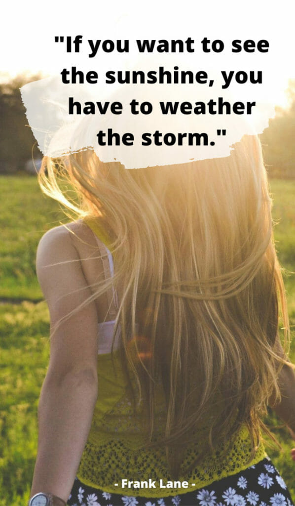If you want to see the sunshine, you have to weather the storm. Sunshine quotes, quotes about sunshine, positive quotes, inspirational quotes, motivational quotes, sunny, beach, wellness, self help, calm, happy, smile, Instagram captions.
