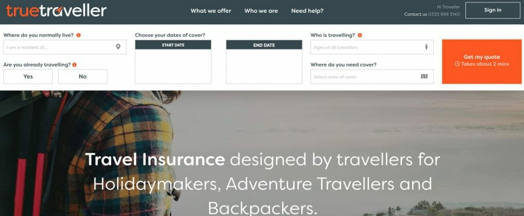 True Traveller Homepage