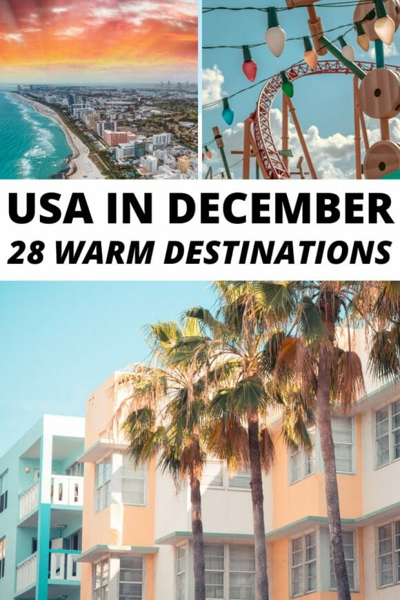 USA in December, warm places to travel in winter USA, warm winter USA travel destinations, winter USA travel, winter USA vacations, where to travel in USA in December, places to visit in December in USA, winter escapes USA,  Florida keys, Florida beaches, winter travel destinations in the United States of America, popular winter US destinations, beautiful places in the USA, USA vacation places, USA winter sun, winter break vacation ideas, North America Christmas travel ideas, North America destinations for winter.
