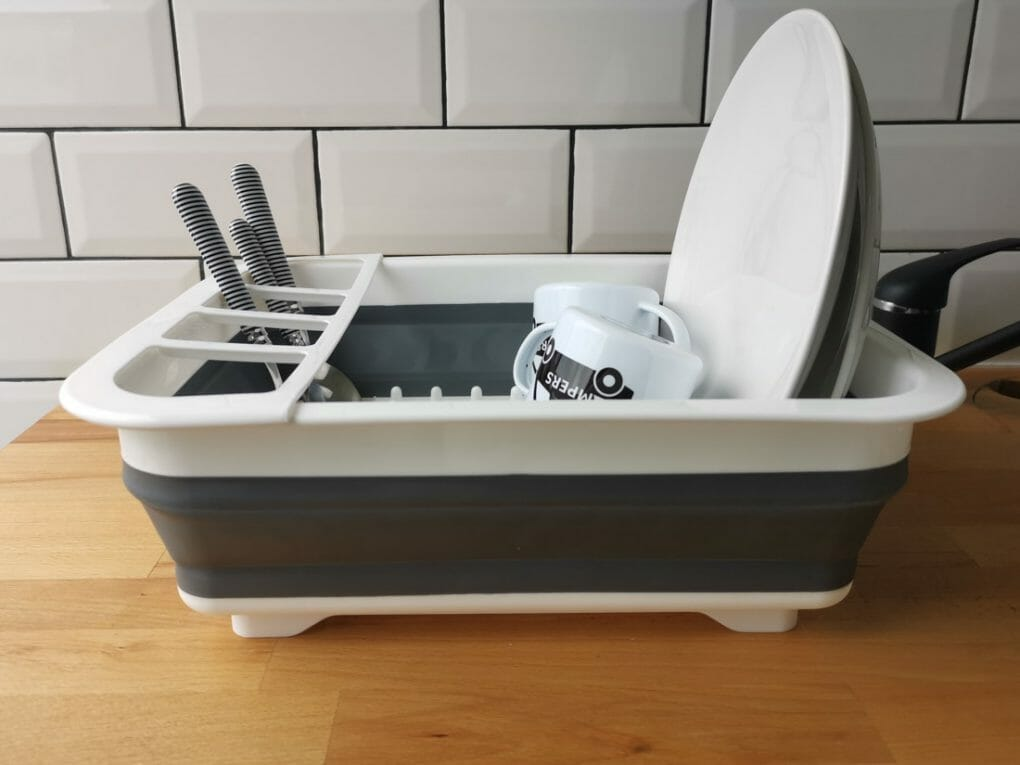 Collapsible Drying Rack Closed Dishes Campervan Road Trip