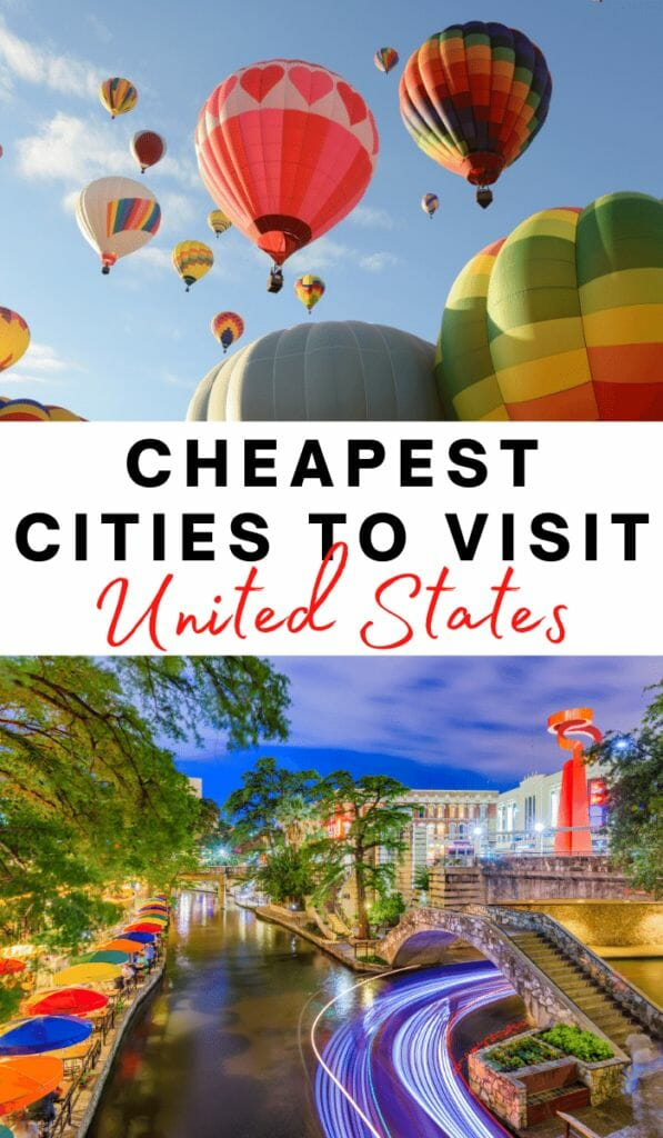 The cheapest cities to visit in the USA for weekend trips, family vacations and road trips. Affordable cities to visit that don't skimp on fun. Click to read!