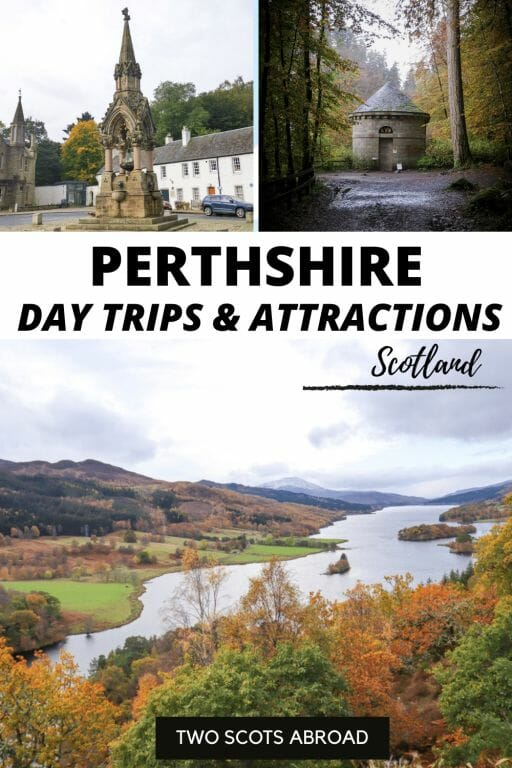 Perthshire, Scotland is the best place to visit in Scotland in autumn! Golden tones of Queen's View, earthy glens, easy walks among nature - there's a reason this region is called Big Tree Country. Click to read about the best things to do in Perthshire and day trips from Pitlochry. Tips from a local.