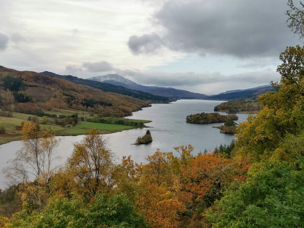 Queens View in Perthshire