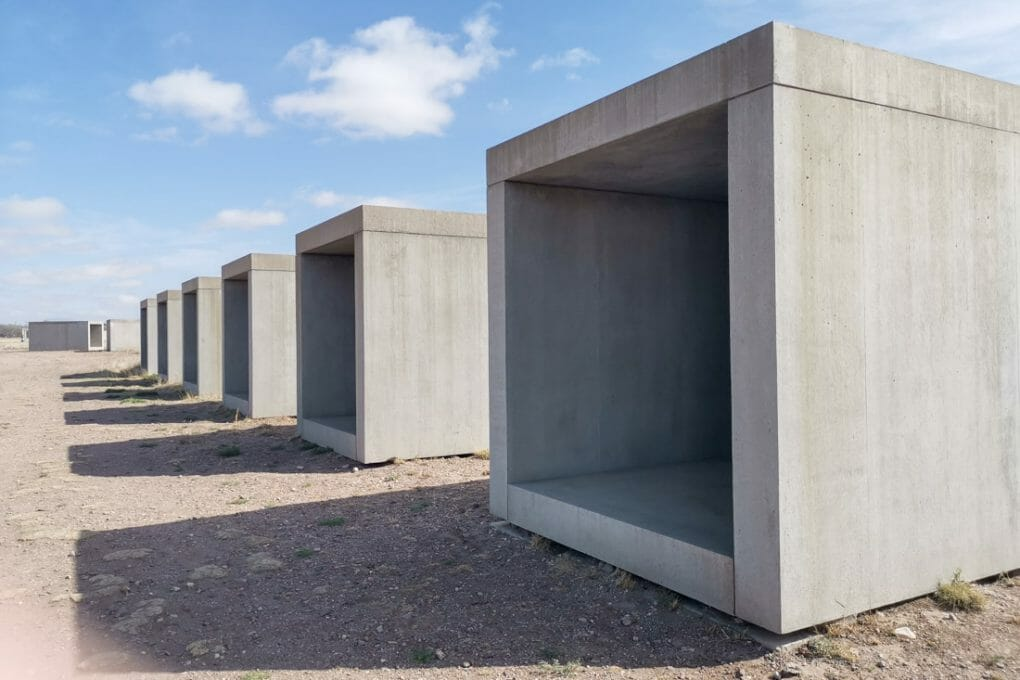 15 Untitled Works in Concrete in Marfa Texas