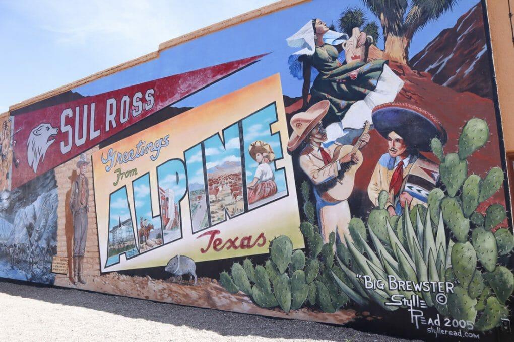 Alpine Art Mural Texas