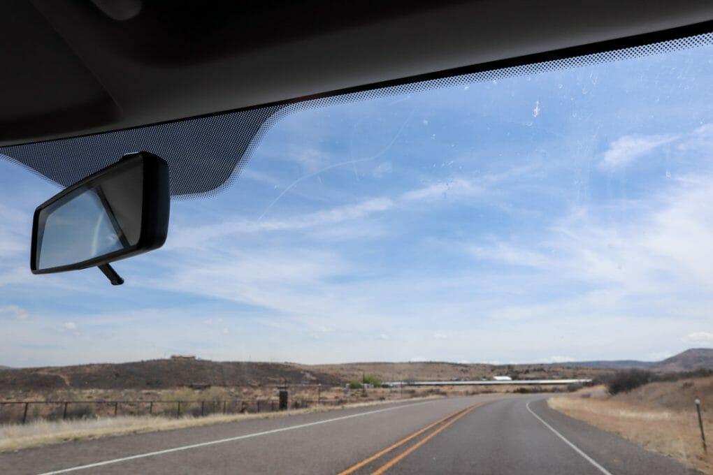 Big Bend Landscape Car Window_