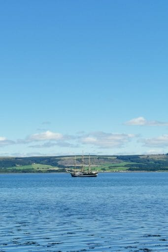 Boat Stranrear South Scotland_