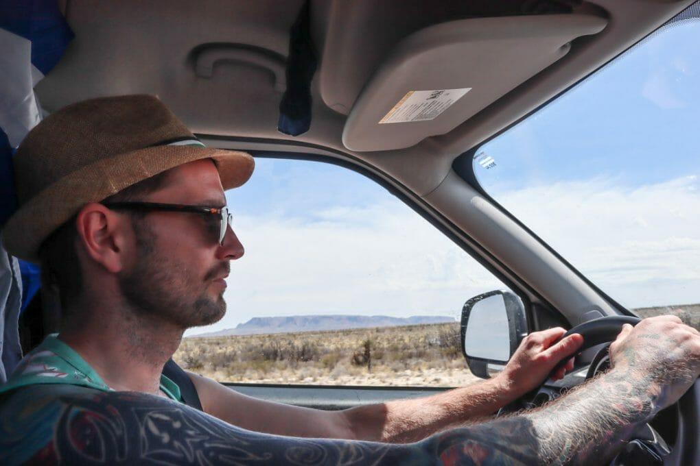 Campervan Craig Driving Texas