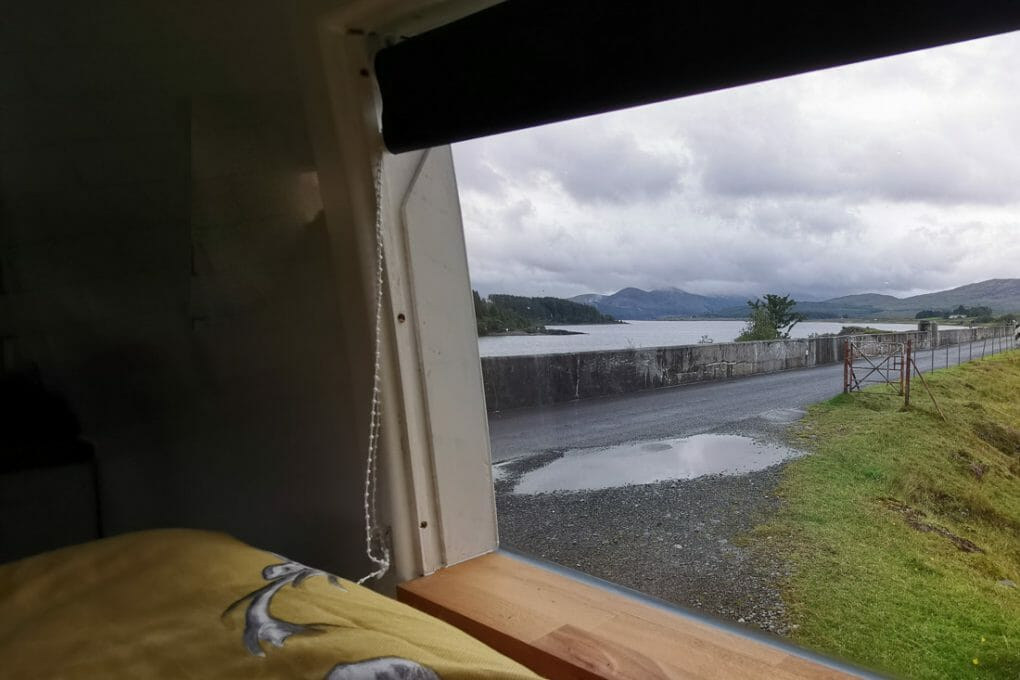 Loch Doon From Camper Galloway Forest Park South Scotland_