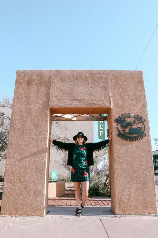 Marfa Arch in Texas Gemma Posing