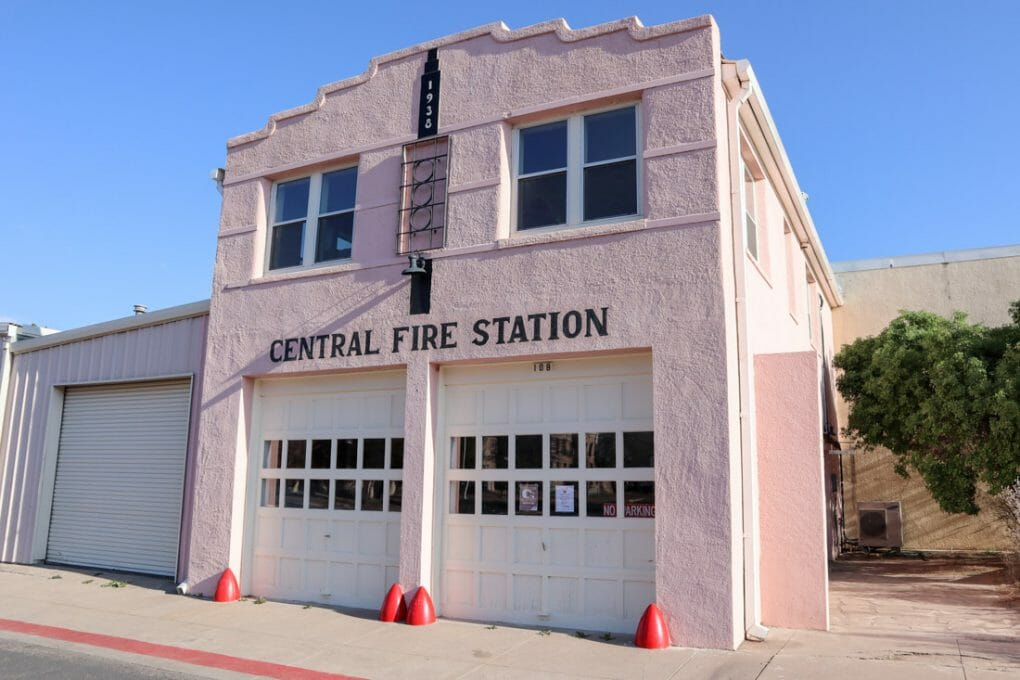 Marfa Central Fire Station in Texas