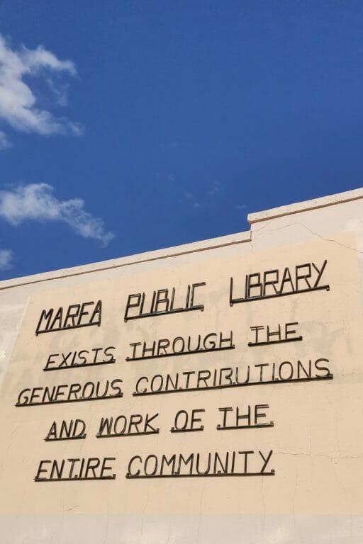 Marfa Library