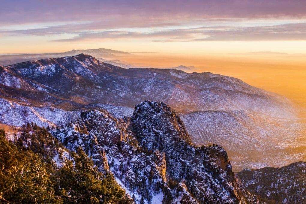 New Mexico, Albuquerque scenic mountain landscape shot at Sandia Peak National Park