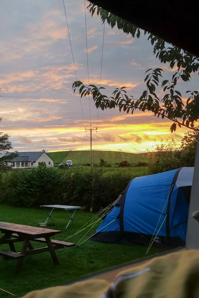 North Rhinns Campsite Sunset South Scotland_