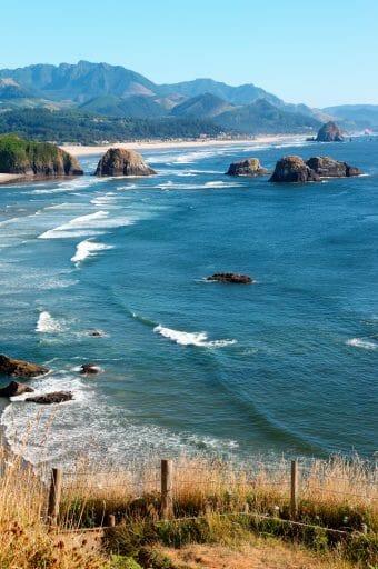 Oregon coast at Ecola state park