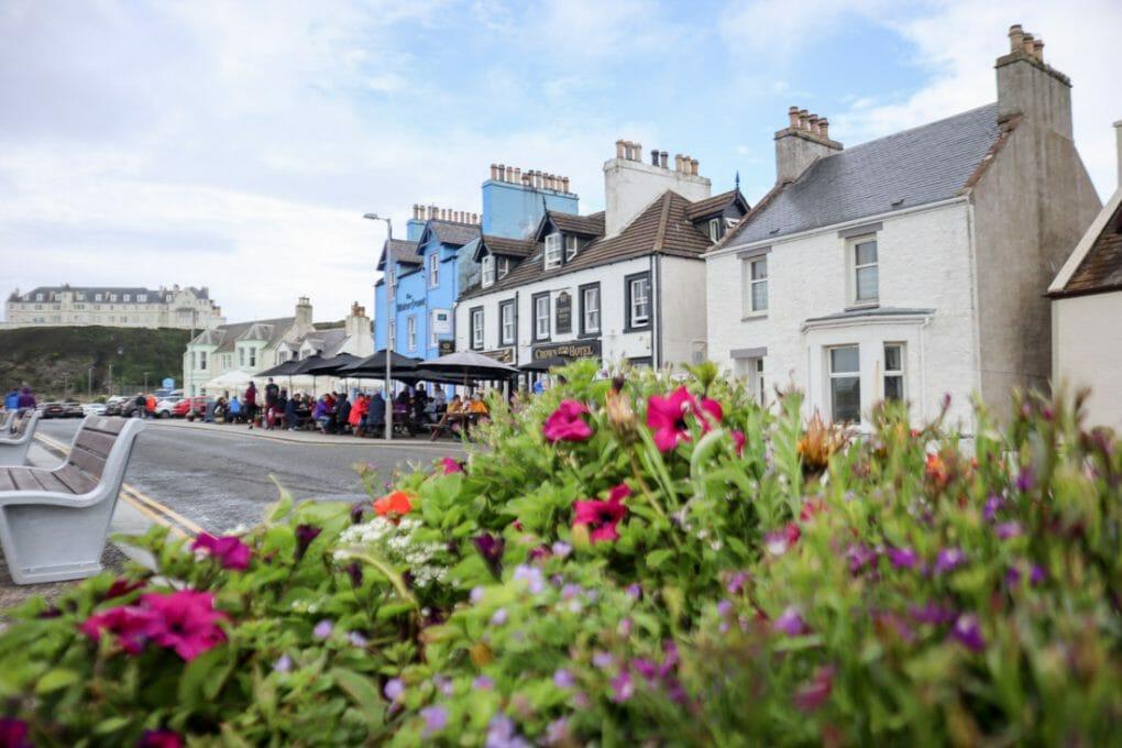 Portpatrick Pubs Flowers Scotland_