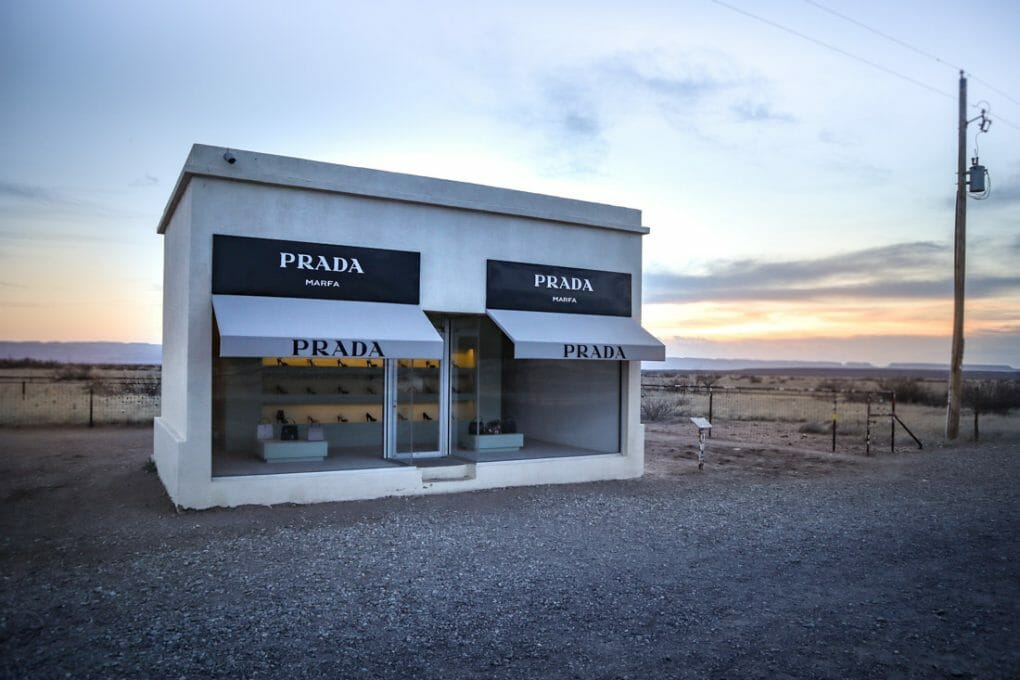 Prada Marfa Post Shop Art Texas