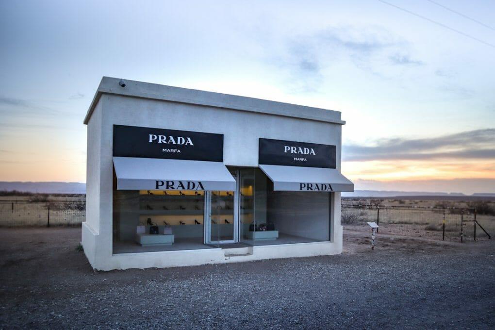 Prada Marfa Sunset Shop Art Texas