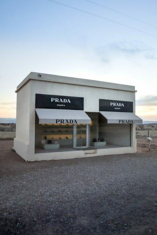 Prada Marfa at Sunset Shop Art Texas.