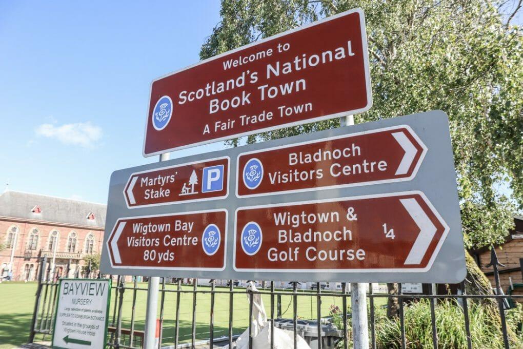 Scotland's National Book Town Sign Wigtown, Scotland