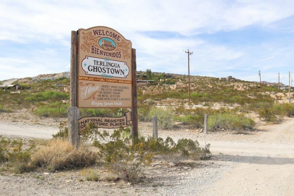Terlingua Ghost Town Sign Texas