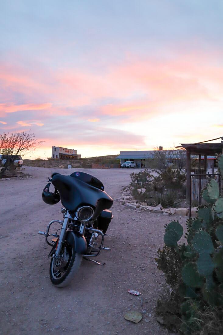 Terlingua Sunset Bike Texas_