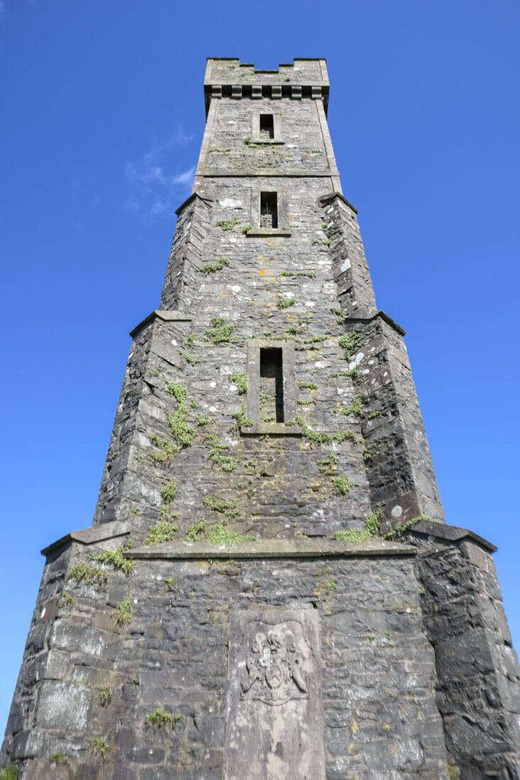 Tor of Craigoch Agnew Monument Iron South West in Scotland