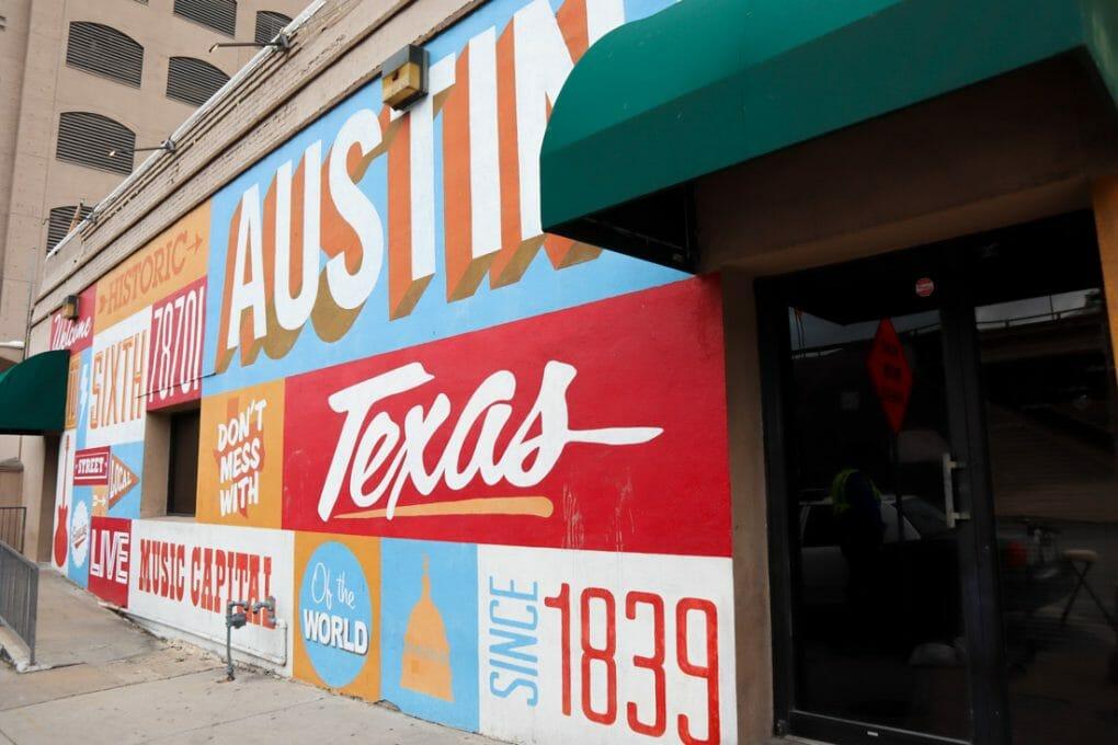 Visit Austin Mural