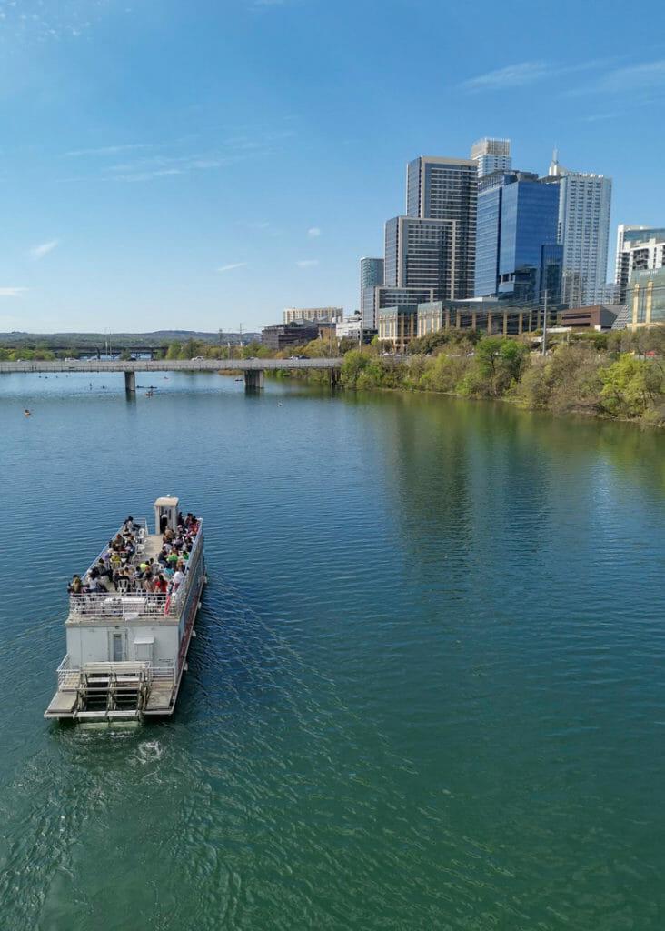 River Cruise Austin Boat Buildings Bridge