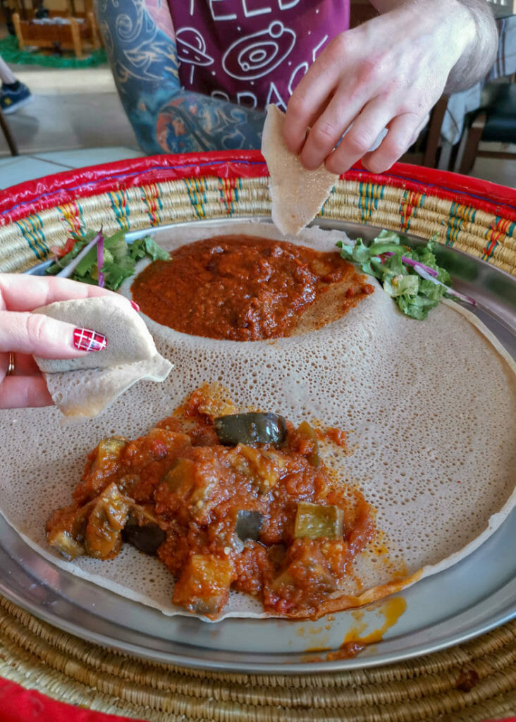 Taste of Ethiopia Food in Austin Texas