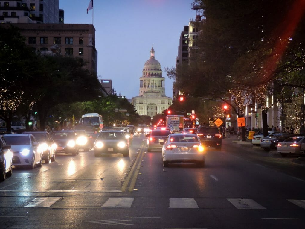 Texas State Capitol Building Night