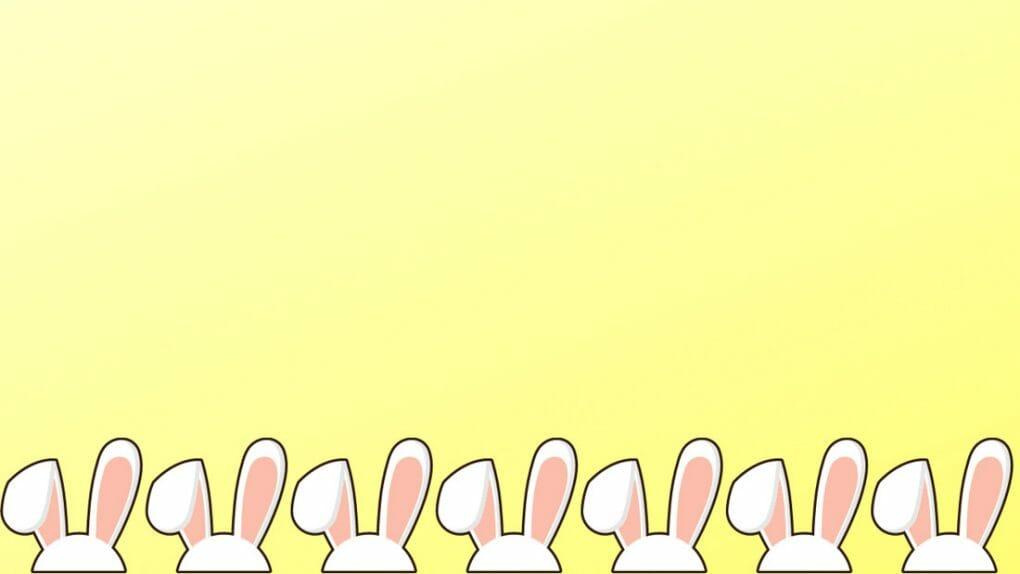 Bunny eays Easter Zoom Background