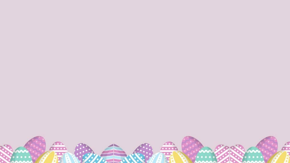 Line of eggs Easter Zoom Background