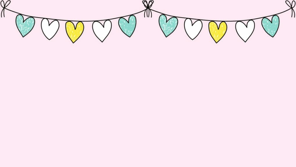 Cute heat bunting Easter Zoom Backgrounds