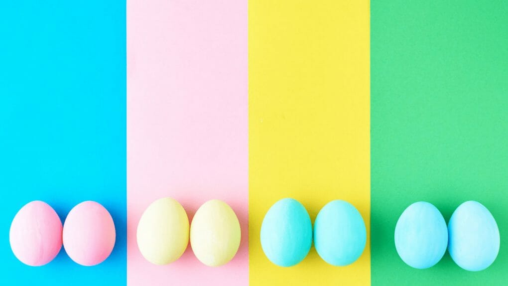 Bright Easter eggs Easter Zoom Backgrounds