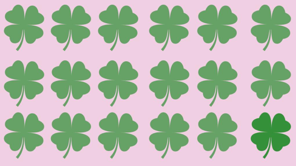 Four Leaf Clovers Background