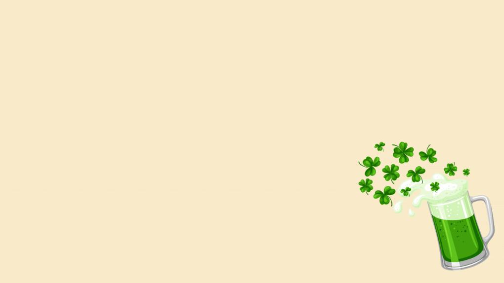 Green beer background