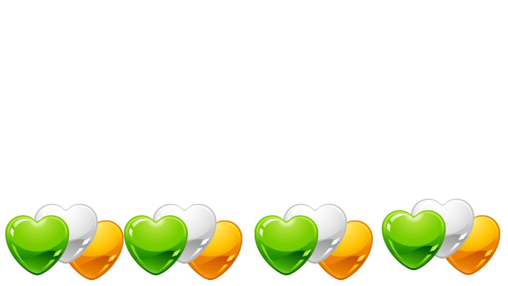 Irish Hearts background white