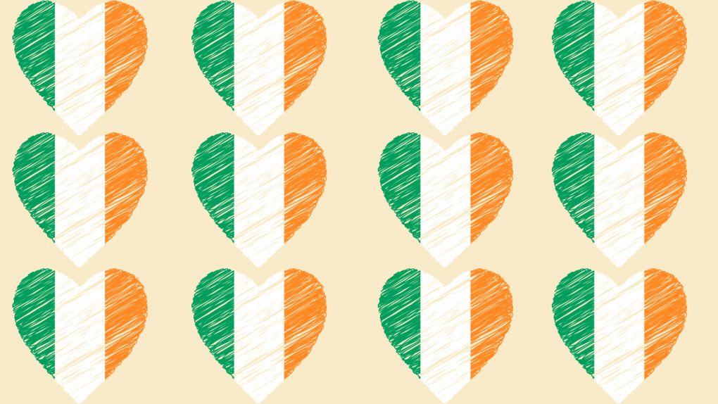 Irish hearts background Zoom