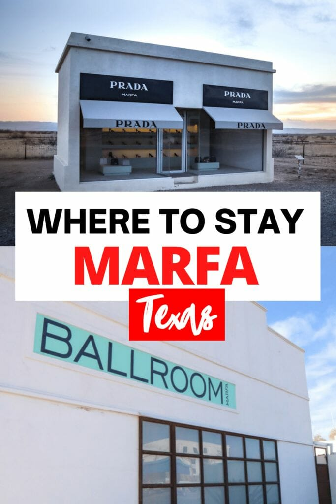 Wondering where to stay in Marfa Texas? This guide details the best hip Marfa hotels, motels, adobe apartments, glamping under the stars and camping for those on a budget!
