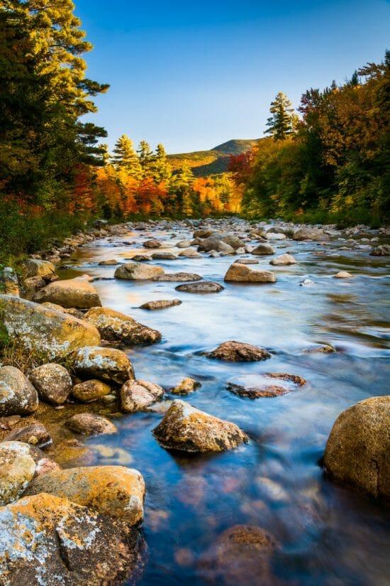 Autumn color along the Swift River, along the Kancamagus Highway