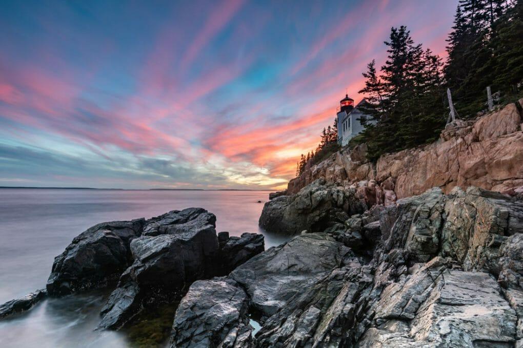Bass Harbor Lighthouse in Acadia National Park, Maine
