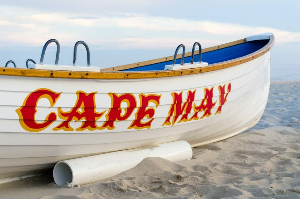 Cape May boat on beach