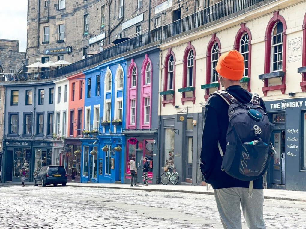 Craig on Victoria Street with Osprey Bag