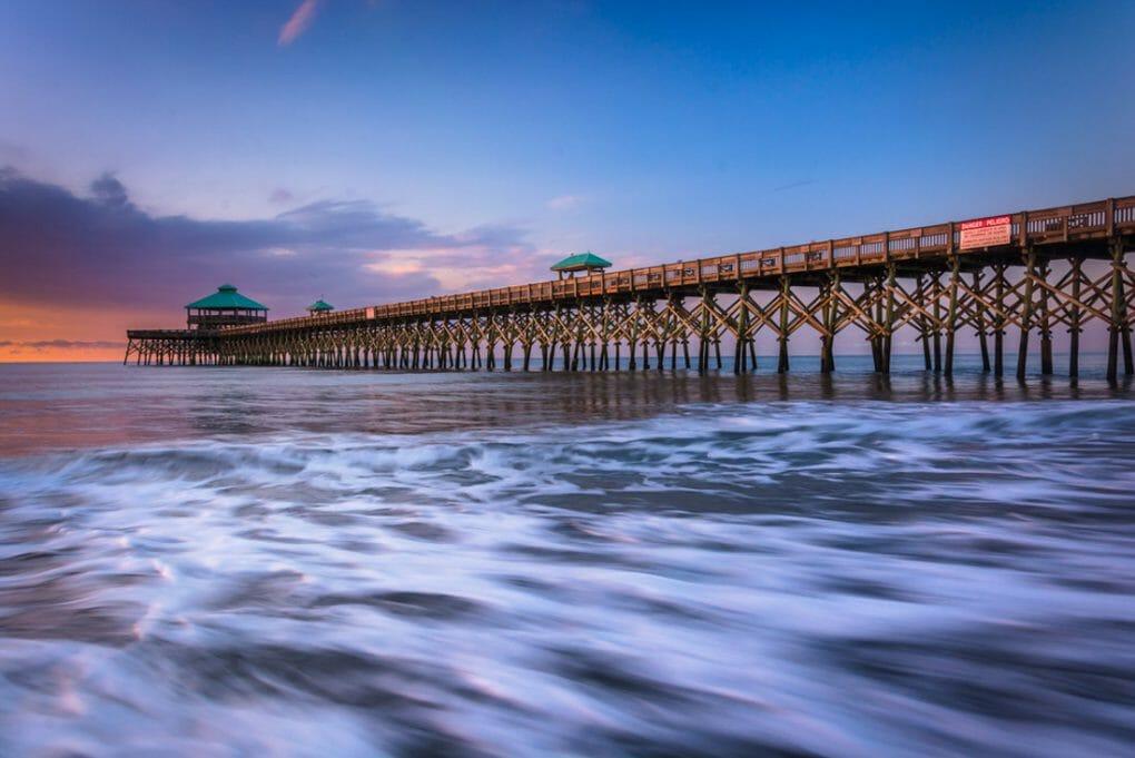 Folly Beach, South Carolina.