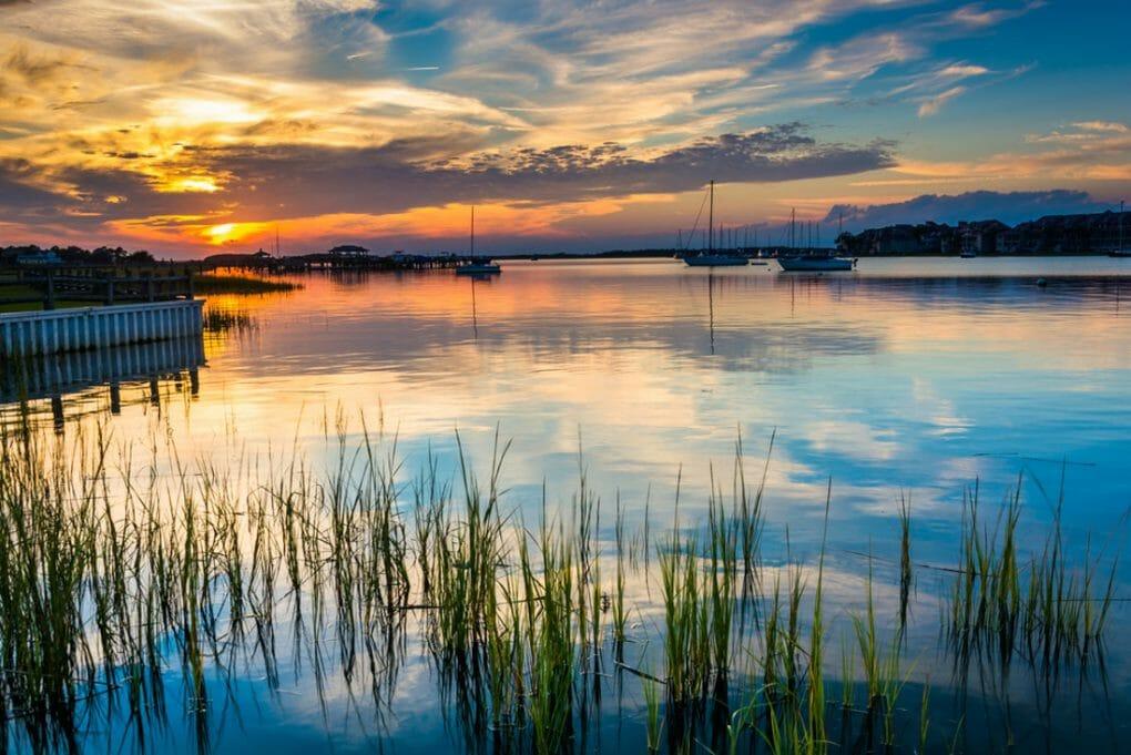 Folly River, in Folly Beach, South Carolina.