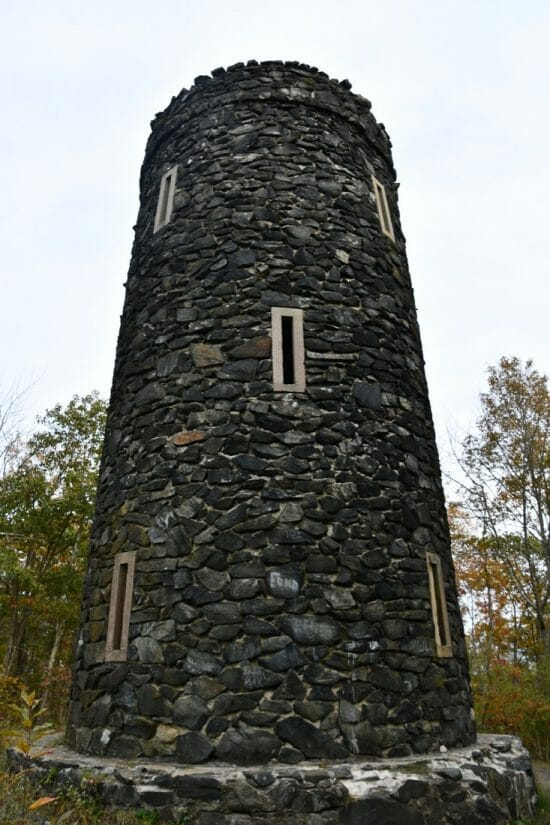 Mount Tom Tower at Mount Tom State Park in Washington, Connecticut